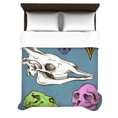 KESS InHouse Skulls Fleece Duvet Cover