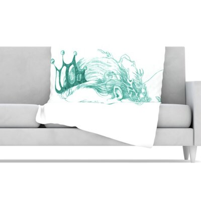 KESS InHouse Queen of The Sea Fleece Throw Blanket