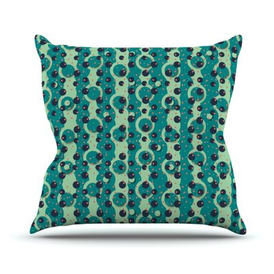 KESS InHouse Bubbles Made of Paper Throw Pillow