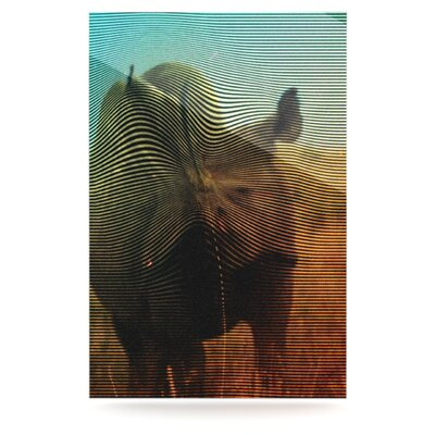 KESS InHouse Abstract Rhino Floating Art Panel