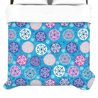 KESS InHouse Floral Winter Duvet Collection