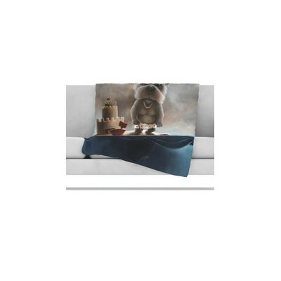 KESS InHouse Grover Microfiber Fleece Throw Blanket