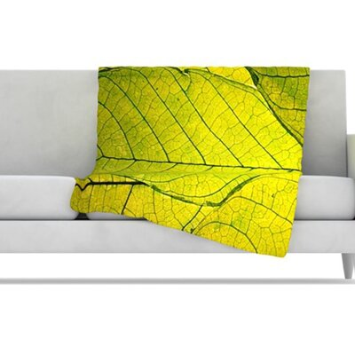 KESS InHouse Every Leaf a Flower Fleece Throw Blanket