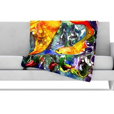 KESS InHouse Fantasy Fish Fleece Throw Blanket