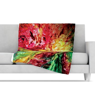 KESS InHouse Passion Flowers I Fleece Throw Blanket