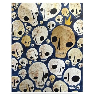 KESS InHouse Skulls Floating Art Panel