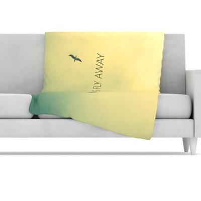 KESS InHouse Let's Fly Away Fleece Throw Blanket