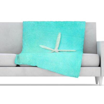 KESS InHouse Starfish Fleece Throw Blanket