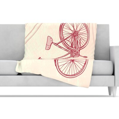 KESS InHouse Bicycle Fleece Throw Blanket