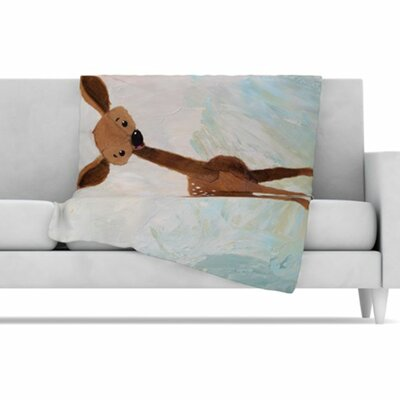 KESS InHouse Oh Deer Fleece Throw Blanket