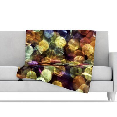 KESS InHouse Warm Sparkle Microfiber Fleece Throw Blanket