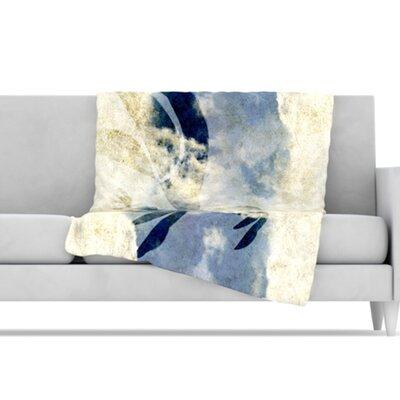 KESS InHouse Doves Cry Microfiber Fleece Throw Blanket