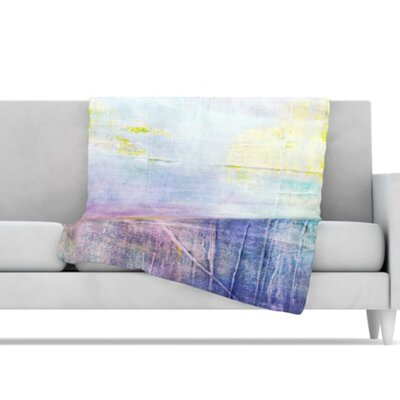 KESS InHouse Color Grunge Microfiber Fleece Throw Blanket