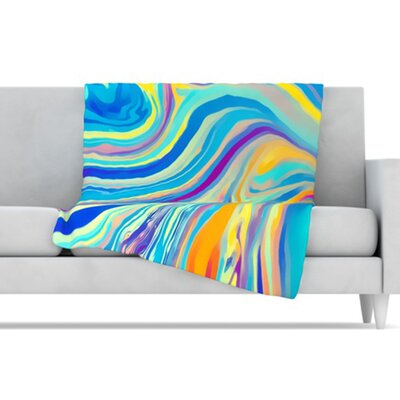 KESS InHouse Rainbow Swirl Microfiber Fleece Throw Blanket