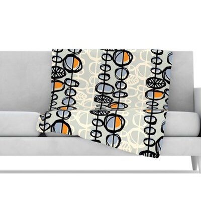 KESS InHouse Benin Microfiber Fleece Throw Blanket