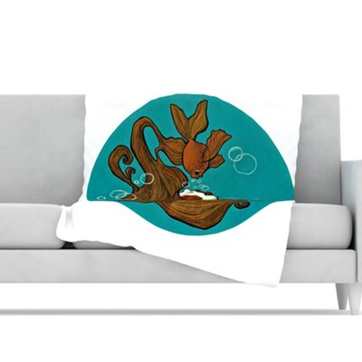 KESS InHouse Goldfish Microfiber Fleece Throw Blanket