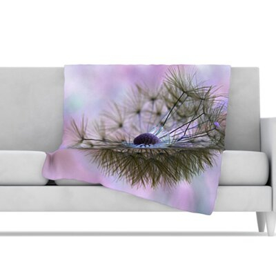 KESS InHouse Dandelion Clock Microfiber Fleece Throw Blanket