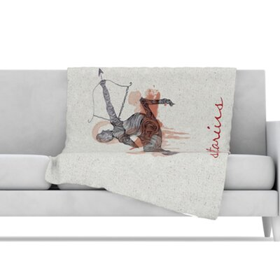 Sagittarius Microfiber Fleece Throw Blanket