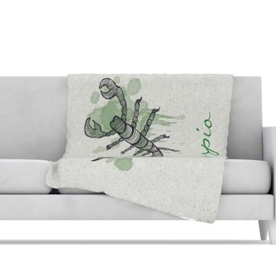 KESS InHouse Scorpio Microfiber Fleece Throw Blanket