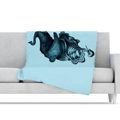 KESS InHouse Elephant Guitar II Microfiber Fleece Throw Blanket