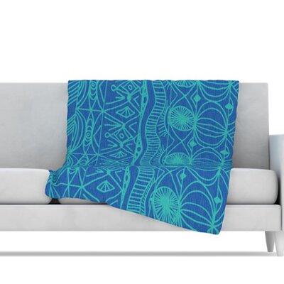 KESS InHouse Beach Blanket Confusion Microfiber Fleece Throw Blanket