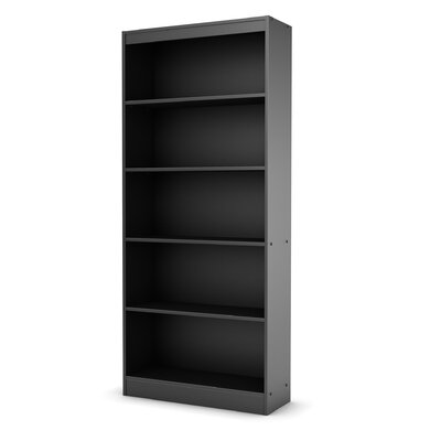 South Shore Axess Five Shelf Bookcase in Black