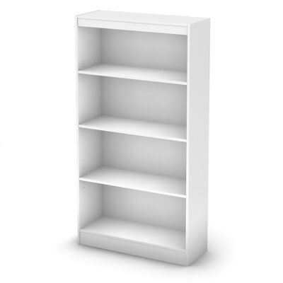 South Shore Axess Four Shelf Bookcase in Pure White