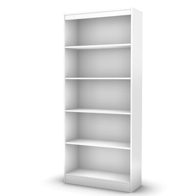 South Shore Axess Five Shelf Bookcase in Pure White
