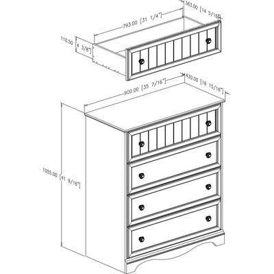 South Shore Andover 4-Drawer Chest