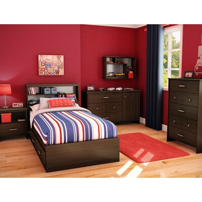 South Shore Highway Twin Mates Platform Bedroom Collection