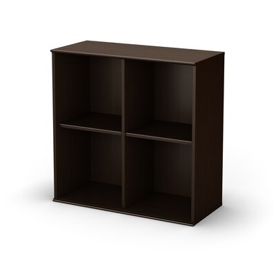 South Shore Stor It Four Cubby Storage Unit in Chocolate