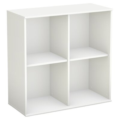 South Shore Stor It Four Cubby Storage Unit in Pure White