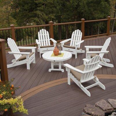Trex Outdoor Cape Cod 6 Piece Adirondack Conversation Set
