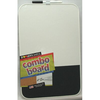 "Dooley Boards Inc 1' 5"" x 11"" Combo Chalkboard and Whiteboard"
