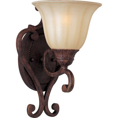 Maxim Lighting Augusta One Wall Sconce in Auburn Florentine