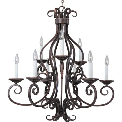 Maxim Lighting Manor 9 Light Candle Chandelier