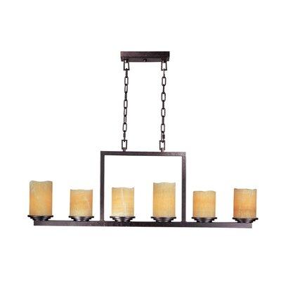 Wildon Home ® Songo 6 - Light Single - Tier Chandelier