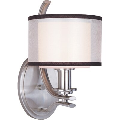 Maxim Lighting Orion One Light Wall Sconce in Satin Nickel