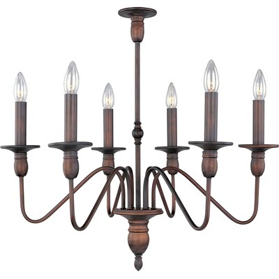 Towne 6 Light Candle Chandelier