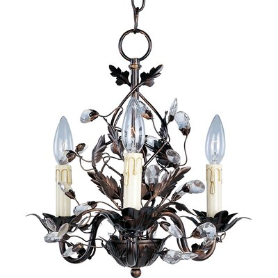 Elegante 3 Light Mini Candle Chandelier