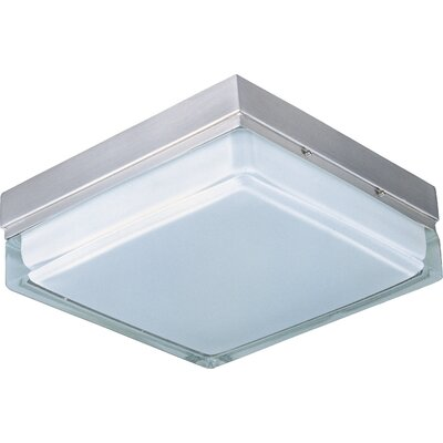 "Maxim Lighting Blocks ES 9"" 2 Light Square Semi Flush Mount"