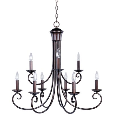 Loft 9 Light Candle Chandelier