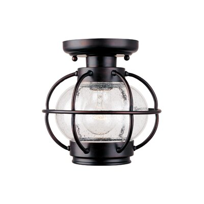 Maxim Lighting Portsmouth  Outdoor Flush Mount in Oil Rubbed Bronze