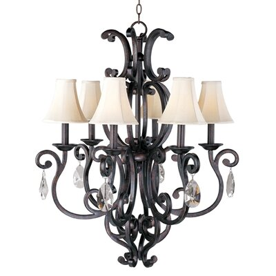 Maxim Lighting Richmond 6 Light Candle Chandelier