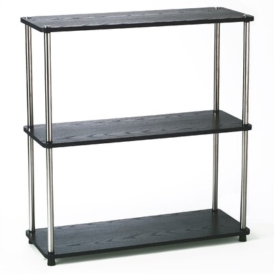 3-Tier Bookshelf in Black Wood Grain