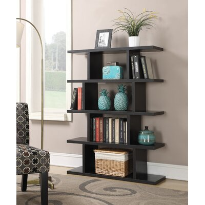 Northfield 5 Tier Block Bookshelf in Espresso Wood Grain