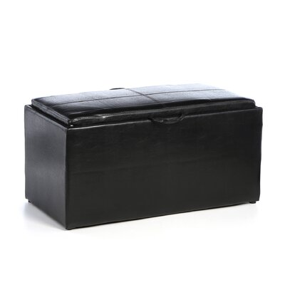 Convenience Concepts Designs4Comfort Sheridan Storage Bench with Ottoman Set