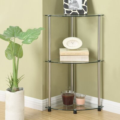 "Convenience Concepts 13.75"" x 31.5"" Classic Three Tier Corner Shelf"