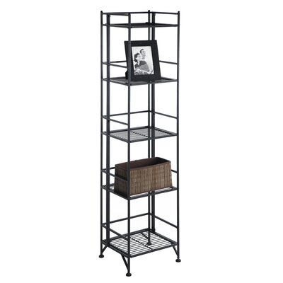 Convenience Concepts XTRA Storage 5 Tier Folding Shelf in Black