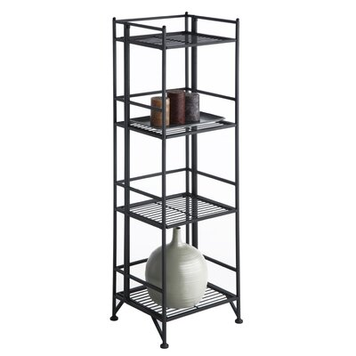 Convenience Concepts XTRA Storage 4 Tier Folding Shelf in Black
